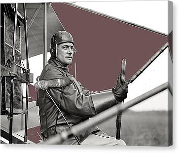 Capt. F.b. Hennessy Curtiss Plane Harris And Ewing College Park Maryland 1912-2013 Canvas Print by David Lee Guss