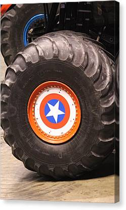 Izod Canvas Print - Captain America by Denise Cicchella