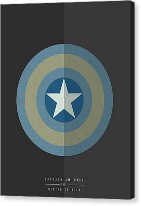 Canvas Print featuring the digital art Captain America Winter Soldier by Mike Taylor