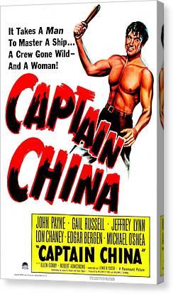 1950s Movies Canvas Print - Captain China, Us Poster, John Payne by Everett