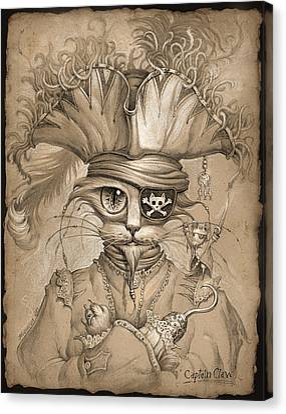 Animal Artwork Canvas Print - Captain Claw by Jeff Haynie