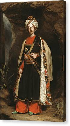 Full-length Portrait Canvas Print - Captain Colin Mackenzie In His Afghan by James Sant