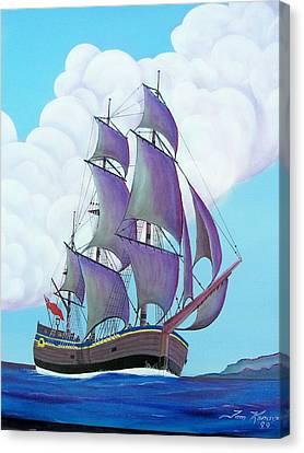 Captain Cook   Endeavor Canvas Print