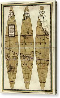 Captain Cook's Voyages Canvas Print