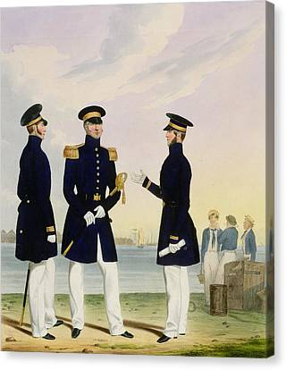 Captain Flag Officer And Commander Canvas Print by Eschauzier and Mansion