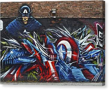 Ironman Canvas Print - Captain Graffiti by Frozen in Time Fine Art Photography