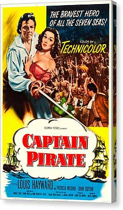 Captain Pirate, Aka Captain Blood Canvas Print by Everett