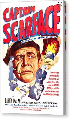 Captain Scarface, Us Poster, Barton Canvas Print by Everett
