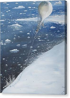 Captain Scott Antarcticas First Aeronaut Canvas Print by Vincent Alexander Booth