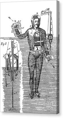 Captain Stoners Life Saving Device, 1869 Canvas Print