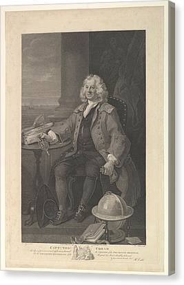Stippling Canvas Print - Captain Thomas Coram by After William Hogarth