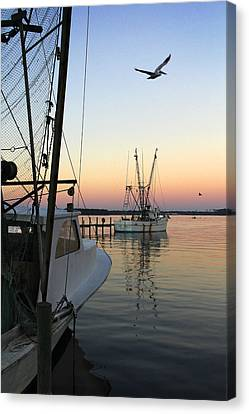 Captain Tony - In For The Night Canvas Print by Mike McGlothlen