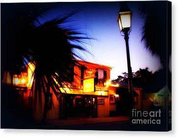 Captain Tony's Bar In Key West Florida Canvas Print by Susanne Van Hulst