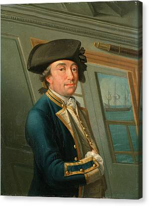Captain William Locker, Dominic Serres, 1722-1793 Canvas Print