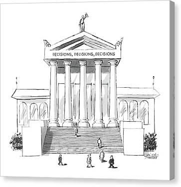Decision Canvas Print - Captionless  'decisions by Mischa Richter