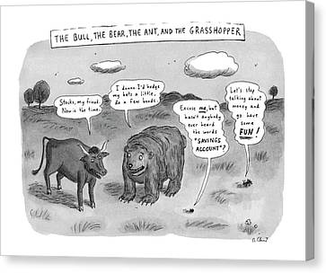 Captionless The Bull Canvas Print by Roz Chast
