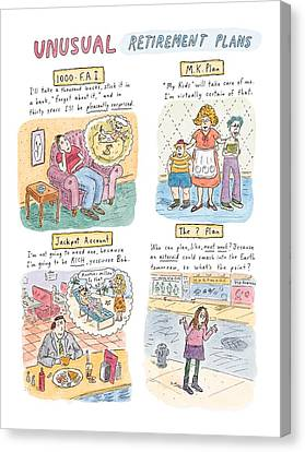I Am Not Canvas Print - Captionless Unusual Retirement Plans by Roz Chast