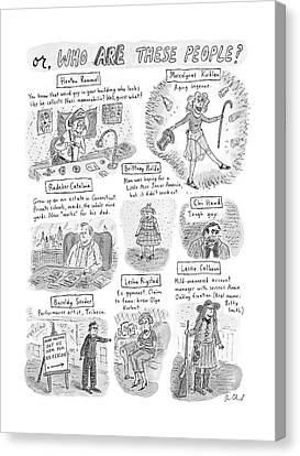 Junk Canvas Print - Captionless Who Are These People? by Roz Chast