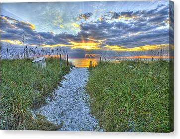 Captiva Sunset Canvas Print by Sean Allen