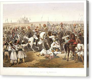Capture And Death Of The Shahzadaghs Canvas Print by British Library