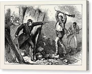 Capture Of John Brown In The Engine House Canvas Print by American School