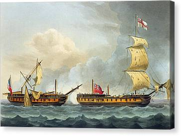 Capture Of La Fique Canvas Print by Thomas Whitcombe