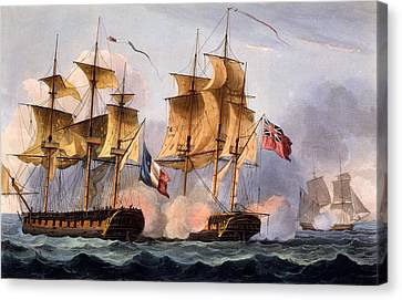 Capture Of Le Desius Canvas Print by Thomas Whitcombe