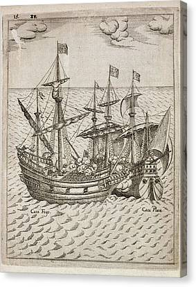 Capture Of The The Spanish Galleon Canvas Print