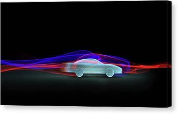 Car Aerodynamics Modelling Canvas Print