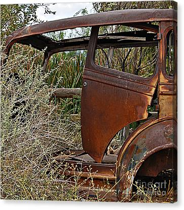Canvas Print featuring the photograph Car-cass by Lee Craig