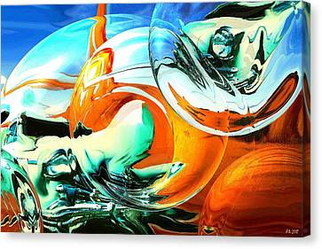 Car Fandango - Abstract Art Canvas Print by Art America Gallery Peter Potter