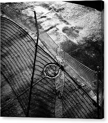 Car Ferry Shadow Canvas Print by Geoffrey Baker