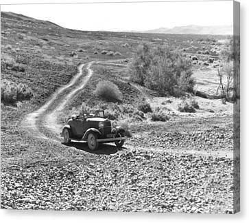 Car In The Desert Canvas Print