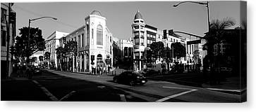 Car Moving On The Street, Rodeo Drive Canvas Print by Panoramic Images