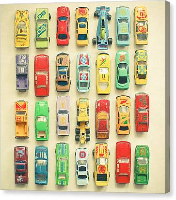 Car Park Canvas Print by Cassia Beck
