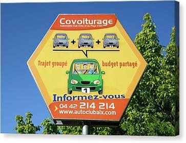 Car Share Advert Canvas Print