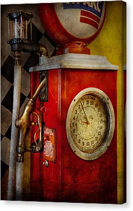 Car - Station - 19 Gallons  Canvas Print by Mike Savad