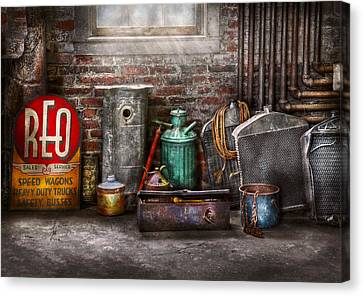 Car - Station - I Fix Cars  Canvas Print by Mike Savad