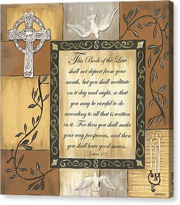 Bible Verse Canvas Print - Caramel Scripture by Debbie DeWitt