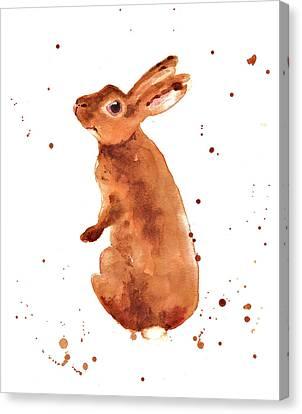 Rabbit Canvas Print - Caramella Bunny by Alison Fennell