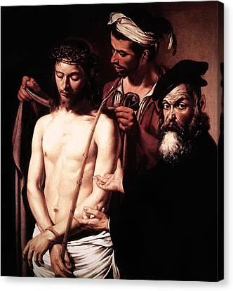 Caravaggio Eccehomo Canvas Print