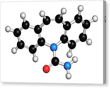 Bipolar Canvas Print - Carbamazepine Anticonvulsant Drug by Molekuul