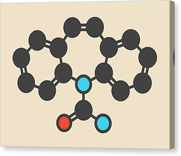 Carbamazepine Anticonvulsant Molecule Canvas Print by Molekuul