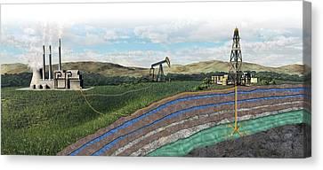 Carbon Capture Technology Canvas Print