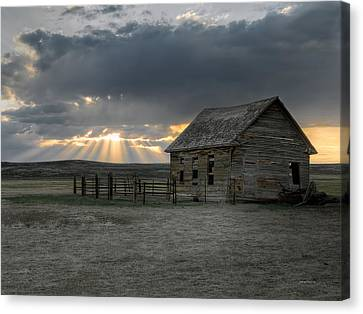Carbon County Cabin Canvas Print by Leland D Howard