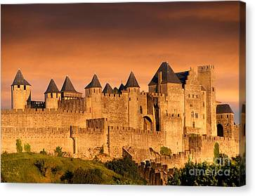 Carcassonne. Aude. France. Europe Canvas Print by Bernard Jaubert