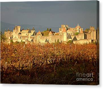 Carcassonne In Fall Canvas Print by France  Art