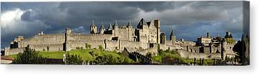 Carcassonne Panorama Canvas Print by Robert Lacy