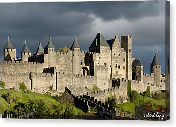Carcassonne Stormy Skies Canvas Print by Robert Lacy