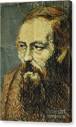 Cardboard Dostoyevsky Canvas Print